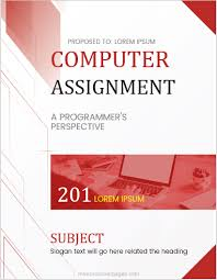 Cover For Assignment Template Computer Assignment Cover Page Templates For Ms Word Ms