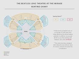 Beatles Love Seating Chart Best Seats Beatles Love Show Preview Veritable Beatles Love Cirque Du