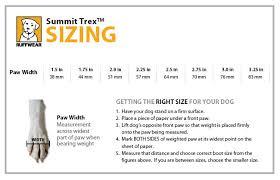 Ruffwear Harness Size Chart Ruff Wear Summit Trex Boots