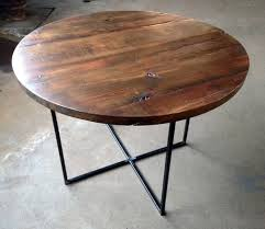 impressive round reclaimed wood dining table within ordinary on inside prepare 1