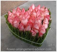 ผลการค้นหารูปภาพสำหรับ flower arrangement heart