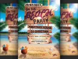 Beach Flyer Summer Beach Party Flyer Template By Hotpin Dribbble Dribbble