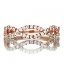 infinity diamond wedding band. twist shank infinity half diamond wedding band d