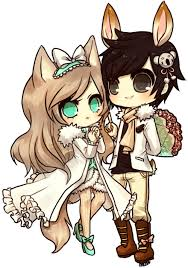 anime chibi cat couples. Delighful Couples Chibi Cat Image And Anime Chibi Cat Couples N