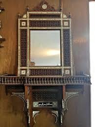 antique handmade wood wall shelf with