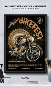 Flyer Poster Templates Motorcycle Flyer Poster Template Clubs Parties Events