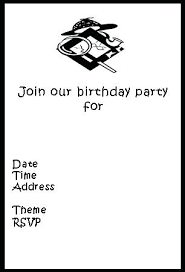 black and white birthday cards printable free printable birthday invitations free birthday card printable