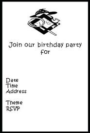 black and white birthday cards printable free printable birthday invitations free birthday card printable