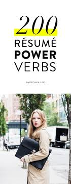 200 Power Verbs To Use On Your Resume Bookmarks Stuffing And