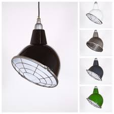 details about oulton with cage industrial pendant light shade black with fabric cable