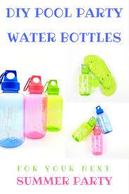 Diy Water Bottle Summer Pool Party Ideas Diy Pool Party Water Bottles
