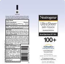Neutrogena Ultra Sheer Dry Touch ...