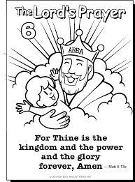 odd the lord s prayer coloring pages 6 kids heart of kingdom