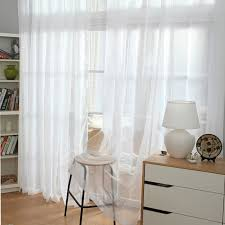 image of white sheer curtains
