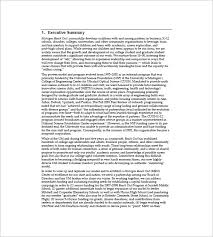 executive business plan template non profit business plan template 8 free word excel pdf format