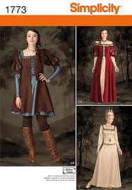 Costume Sewing Patterns Fascinating Simplicity Andrea Schewe Misses Sewing Pattern 48 Medieval Costume