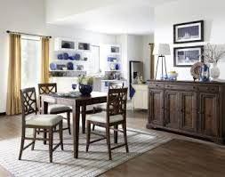 klaussner trisha yearwood home 5 piece southern kitchen counter height dining room set in coffee