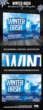 17 best images about horizontal flyers flyer winter bash horizontal flyer template