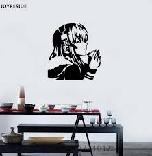 joyreside anime wall decal vinyl sticker headphones coffee dream girl room decoration removable home design art diy mural xy064 vinyl wall stickers es