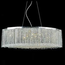 one other image of crystal linear chandelier