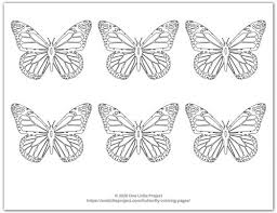It is the first step. Butterfly Coloring Pages Free Printable Butterflies One Little Project
