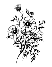 Flower Page Printable Coloring Sheets Wildflower