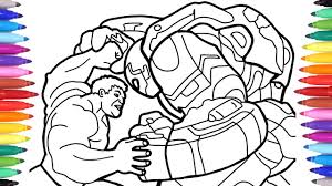 Hulk is seen as usual in an aggressive mood in this coloring page and is ready to fight. Hulk Vs Ironman Hulkbuster The Avengers Coloring Pages How To Draw Hulkbuster Iron Man Suit Youtube