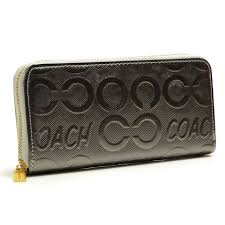 Coach Logo Large Silver Wallets BCS