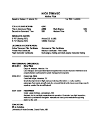 Sample Airline Pilot Resume 100 Ways to Become an Airline Pilot wikiHow 62