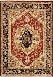 the strong persian influence is immediately recognizable in this superb hand knotted rug striking and majestic they reflect the famous geometric serapi