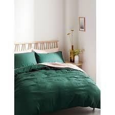 linen bedding forest green house