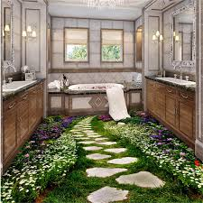 <b>beibehang Custom 3D photo</b> floor painting wallpaper PVC adhesive ...