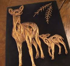 Copper String Art by TheMosaicButterfly, via Flickr