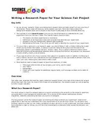 Science Project Title Page Science Fair Research Paper Title Page Example