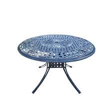 Aluminum Outdoor Dining Table Verdi Grey 48 In Round Aluminum Outdoor Dining Table Hdpart 1116
