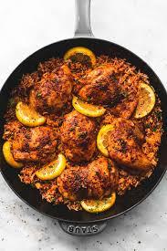one pan spanish en and rice lecremedelacrumb