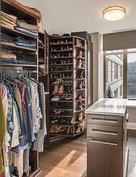 360 organizer shoe spinner shoes closet adds functionality in a small walk in closet