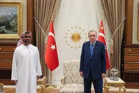 أردوغان يجري مباحثات مع مستشار الأمن الوطني الإماراتي
