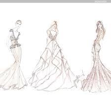 Sketching Clothing Designer Wedding Dress Sketches Behind The Scenes Brides