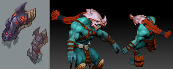 dota2 huskar arachnid slayer set polycount