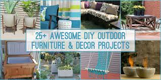 25 diy outdoor furniture and decor projects