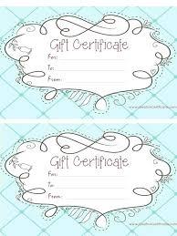 Free Printable Gift Certificate Templates Online Beadesigner Co