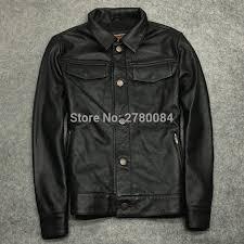 Us 189 0 Gu Seemio Genuine Leather Jacket Zhirou Sheep Skin Coat For Men Motorbycle Real Leather Outwear Punk Vintage Slim Suit Male In Genuine
