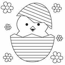Kleurplaat Kuiken In Paasei Pasen Knutselen Voor Pasen Pasen