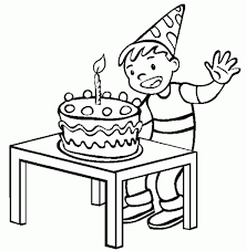 Small Picture Happy Birthday Coloring Pages For Boys Birthday Coloring pages