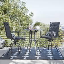 Balcony patio furniture Space Saving Avalon 3pc Sling Balcony Height Patio Bistro Set Black Project 62 Target Big Lots Avalon 3pc Sling Balcony Height Patio Bistro Set Black Project 62