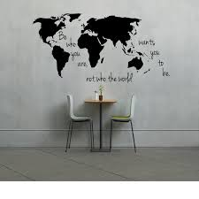 large world map decal be who you are not the wants and for wall at large world map for wall