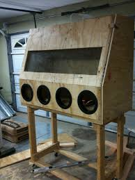 Blast Cabinet Gloves How To Build A Homemade Sandblasting Cabinet Smeccacom