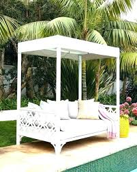 Outdoor Daybed With Canopy Sun Lounger Outdoor Round Daybed With ...