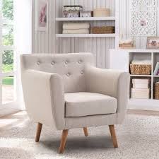 modern furniture living room wood. Fine Furniture Giantex Living Room Arm Chair Tufted Back Fabric Upholstered Accent  Modern Single Sofa Wood Legs With Furniture E